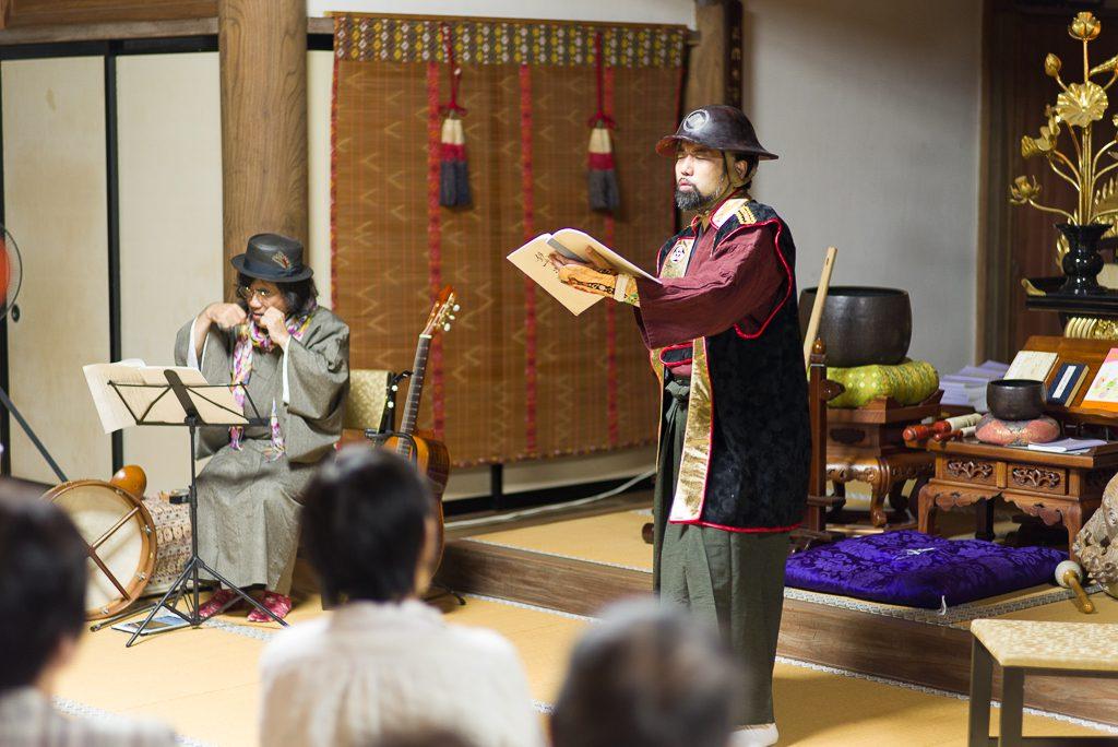 ムッシュびやぼん(左)、奥野晃士(右)